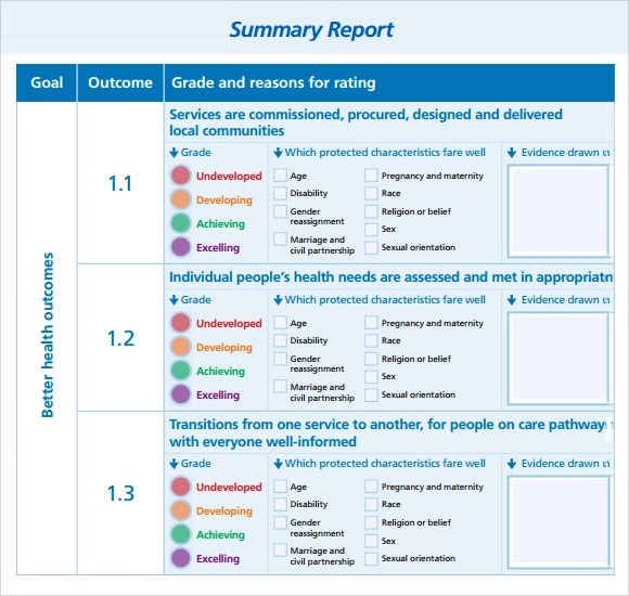 8+ Sample Summary Reports Sample Templates