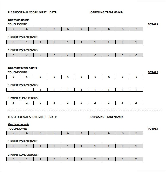 13+ Sample Football Score Sheet Templates Sample Templates - point paper template
