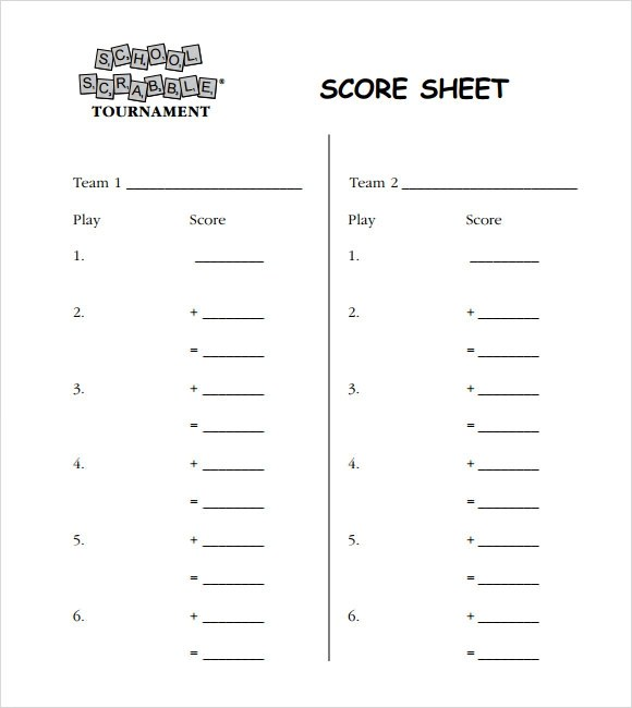 scrabble score sheet - gerhard-leixl - bunco score sheets template