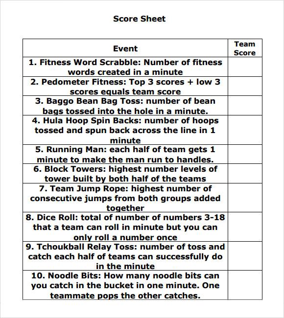 scrabble score sheet - bunco score sheets template