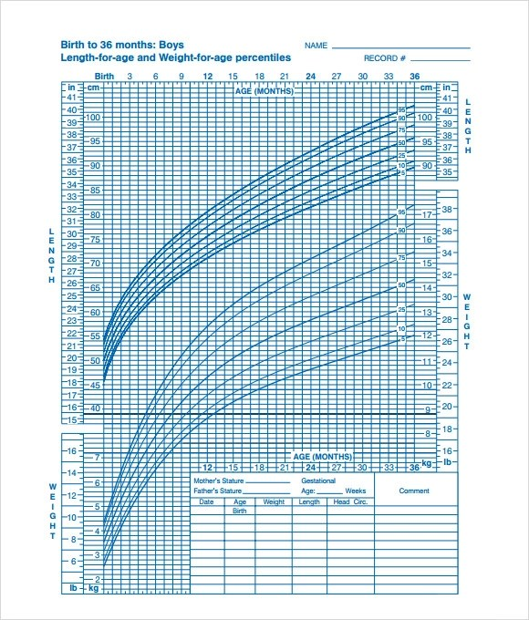 9+ Sample CDC Growth Charts Sample Templates - cdc growth chart template