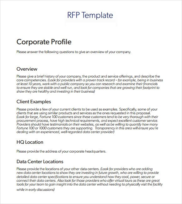 Gallery of Rfp Template Construction - contractor proposal template word