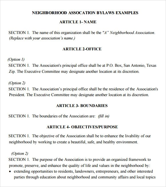 Club Bylaws Template Vosvetenet – Church Bylaws Template