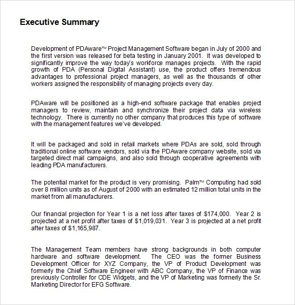 Research proposal executive summary format - corengovng