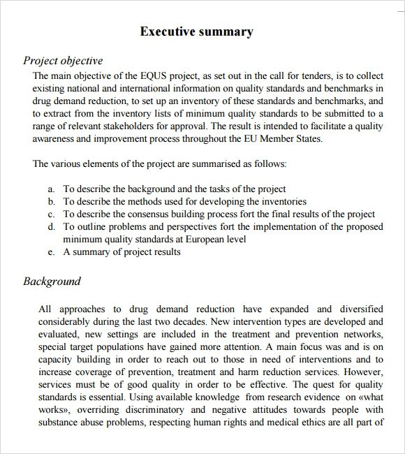 magnificent project summary template word adornment best resume