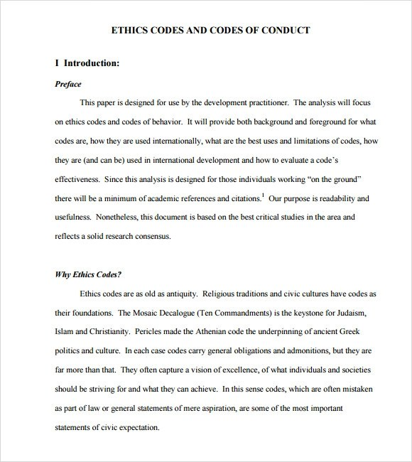 Sample Employee Code Of Conduct Resume Pdf Download - code of conduct example