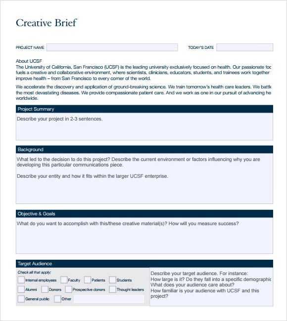 brief template microsoft word - Minimfagency - project brief template