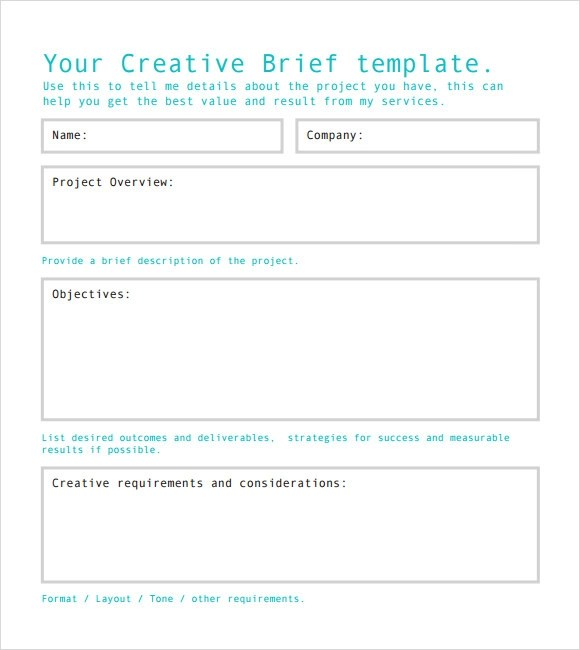 Sample Creative Brief - 9+ Free Documents in PDF, Word