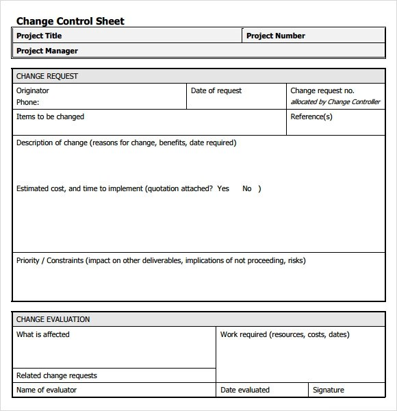 8+ Change Request Samples Sample Templates