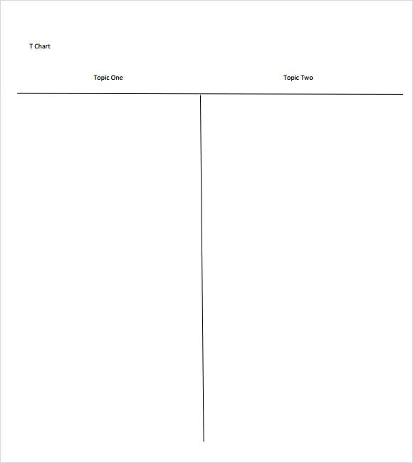 8+ Sample T Charts Sample Templates - t chart template