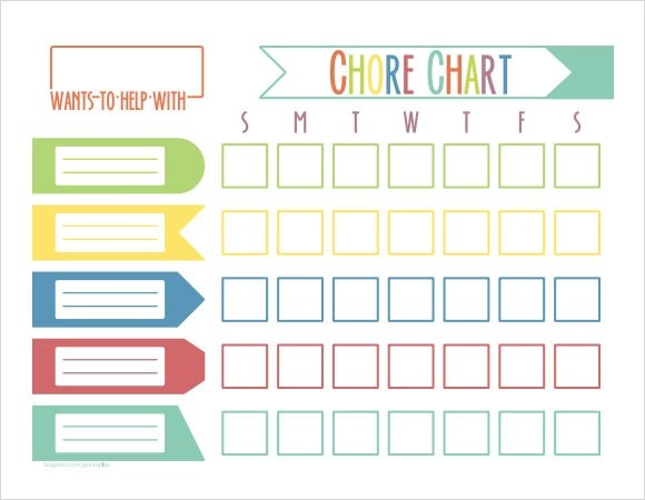 child chore chart template - Onwebioinnovate