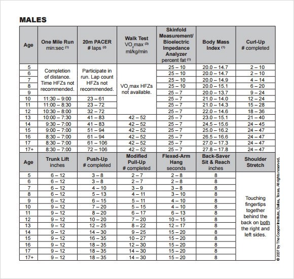 Sample Workout Chart - 7+ Documents in PDF - beast workout sheet