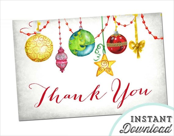 20 Christmas Thank You Cards to Download Sample Templates