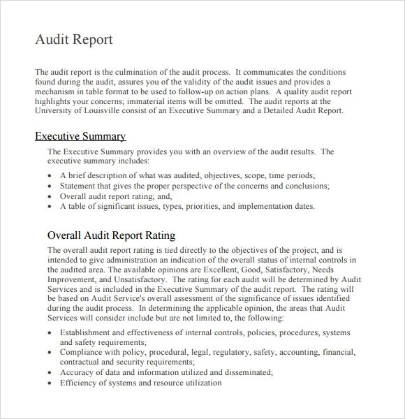 Internal Audit Report 2012 - Internal Audit Report Page 4 - audit report