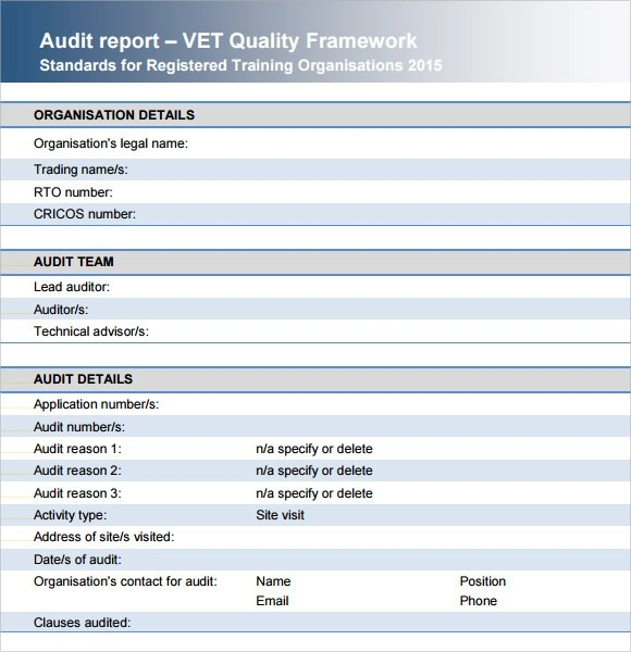 Sample Audit Report - 12+ Documents in PDF, Word