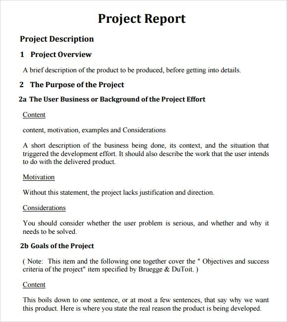 Sample Project Report Writing Format - 30 Free Downloads The Best