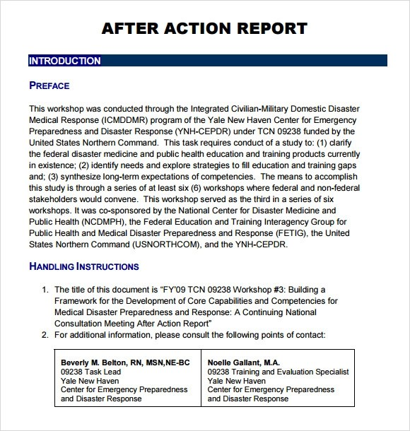 sample after action report template - fototango