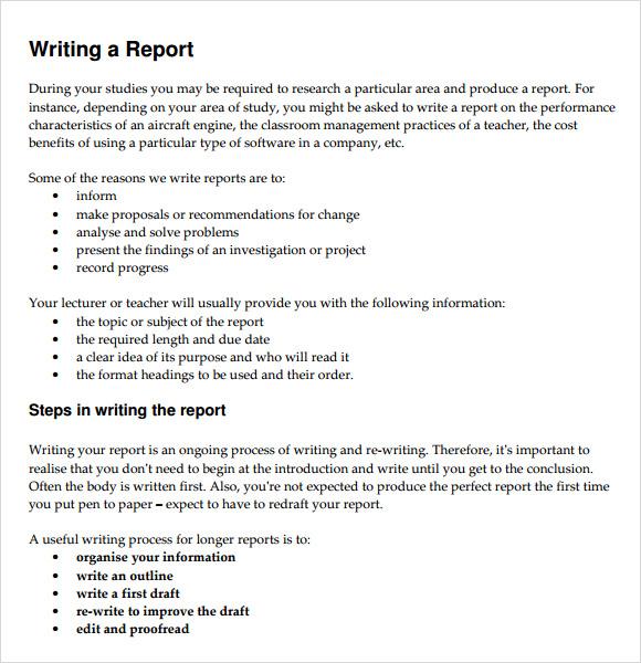 30+ Sample Report Writing Format Templates \u2013 PDF Sample Templates