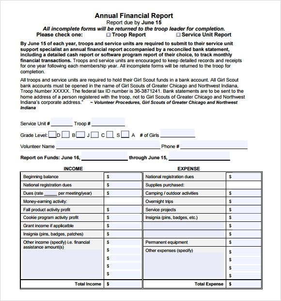 10 annual financial report templates