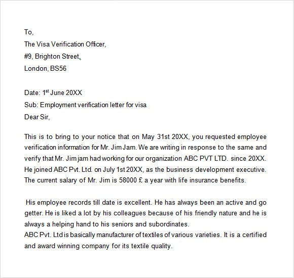Authorization Letter Employment Verification  Cover Letter