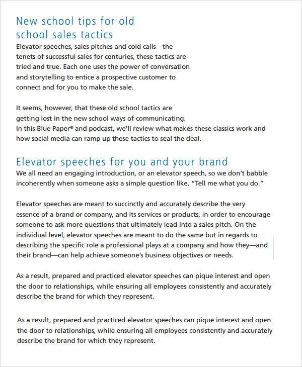 11+ Sample Elevator Pitch Examples Sample Templates