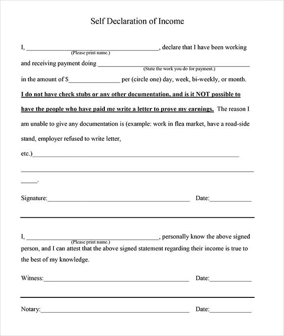 7+ Proof of Income Letter - PDF