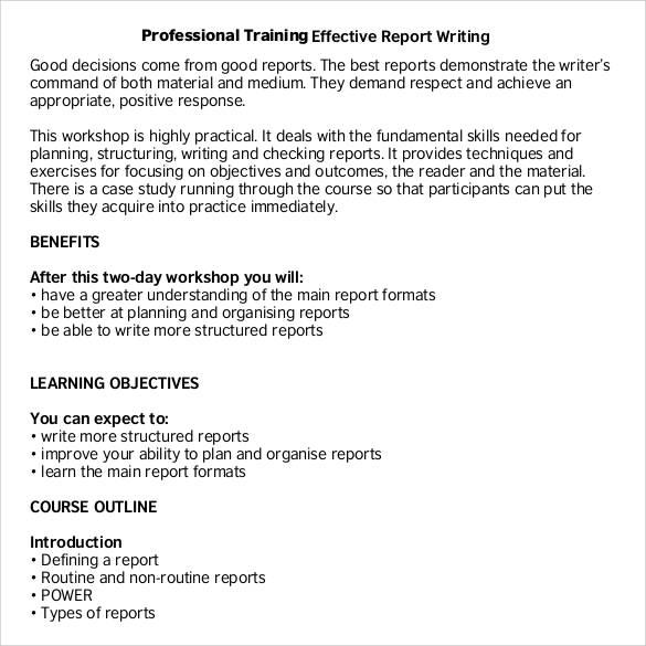 30+ Sample Report Writing Format Templates - PDF