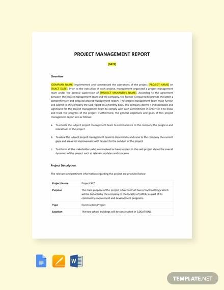 11+ Project Report Templates Download - Docs, Word, Pages