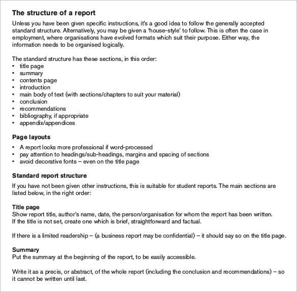 30+ Sample Report Writing Format Templates \u2013 PDF Sample Templates - professional business report format