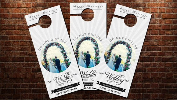 Retail And Consumer Door Hanger Template Wedding  Resume For
