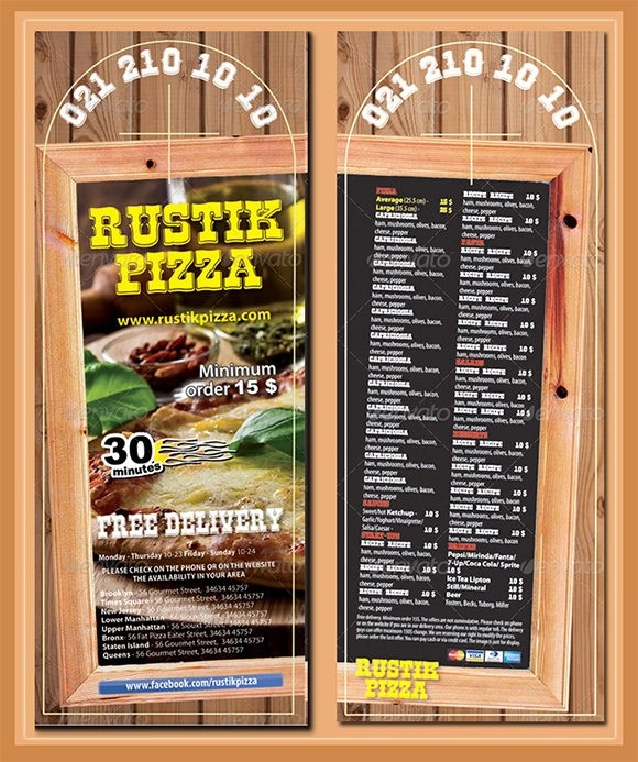 ... 10+ Restaurant Door Hanger Templates   PSD , In Design   Banking And Financial  Door ...