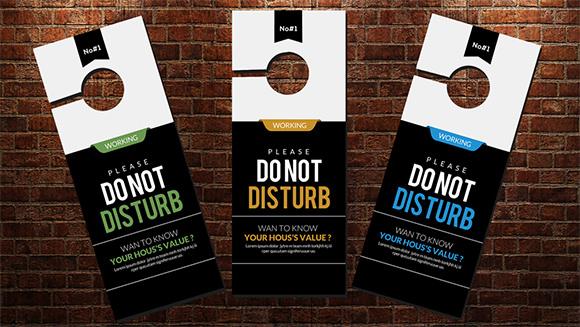 12+ Do Not Disturb Door Hangers Sample Templates