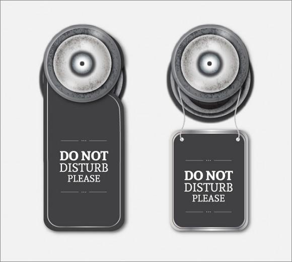 12+ Do Not Disturb Door Hangers - PSD, Vector EPS - retail and consumer door hanger template