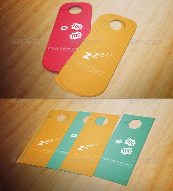 Retail And Consumer Door Hanger Template Front And Back