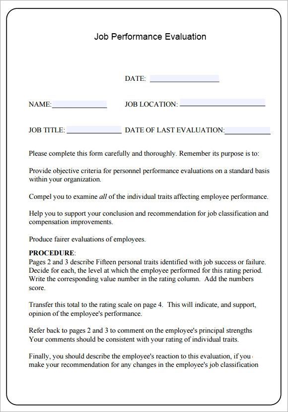 review form template