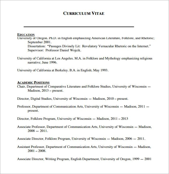 Sample Blank CV - 6+ Documents in PDF, Word