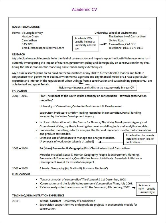 cv template in word free download