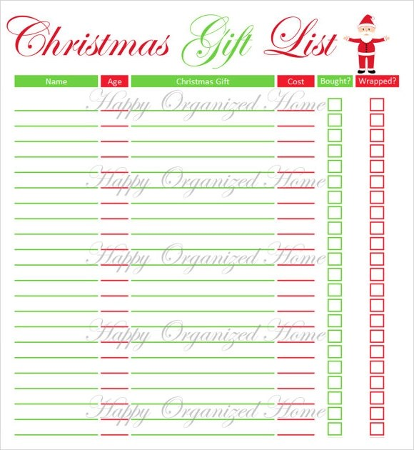 Christmas List Template cyberuse - Kids Christmas List Template
