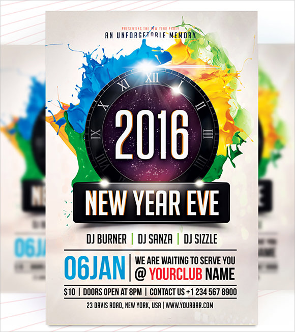 New Year Party Flyer Template - 34+ Download Documents in PSD , PDF