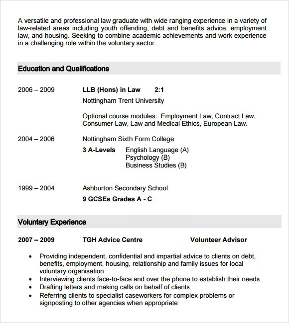 Free Resume Examples Examples Of Professional Resumes Sample Student Cv Template 9 Download Free Documents In