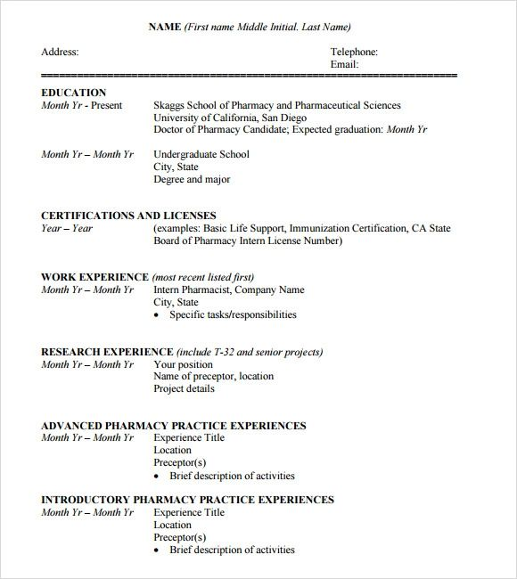 example of cv for students pdf