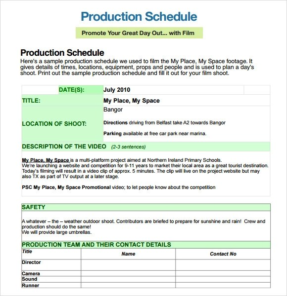 7 Production Timeline Templates Free Excel PDF Format Download 7 - sample production schedule template