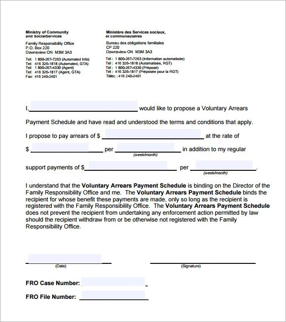 Sample Payment Schedule Template - 9+ Free Documents in PDF - sample payment schedule template