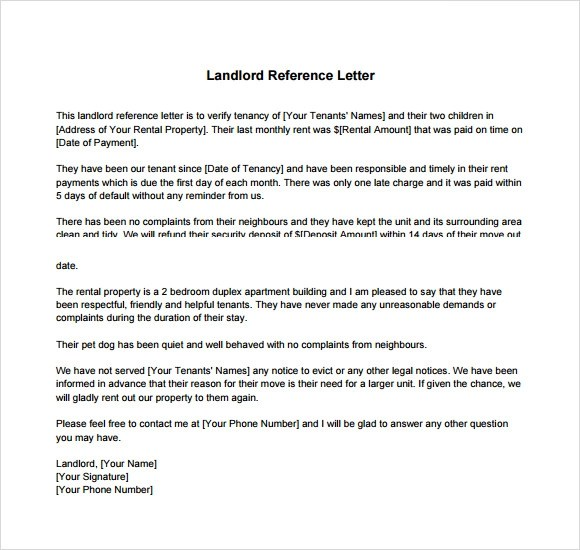 Character Reference Letter For Friend Buzzle Landlord Reference Letter Template 8 Download Free