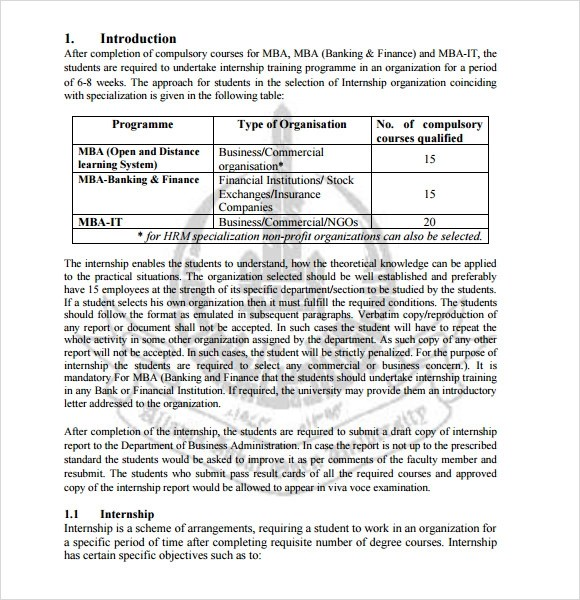 Internship report format essay Homework Writing Service ltessayppht - Finance Report Format