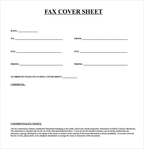 fax cover sheet template pdf
