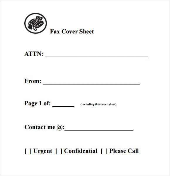 8+ Basic Fax Cover Sheet Samples Sample Templates