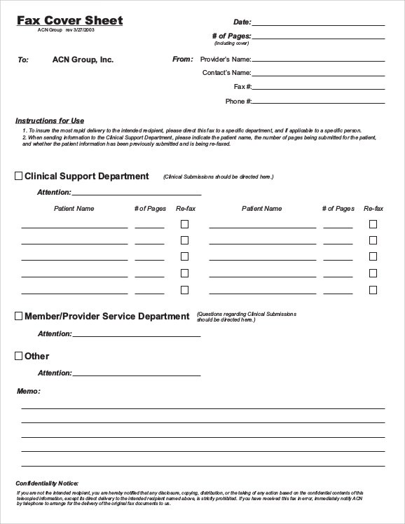 6+ Fax Cover Sheet for CV Samples Sample Templates