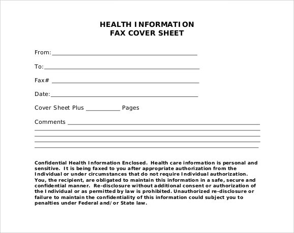 Fax Cover Sheet Templates Word - Costumepartyrun
