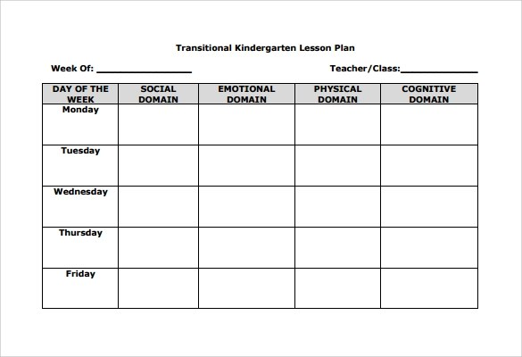 elementary blank lesson plan template - Minimfagency - Blank Lesson Plan Template